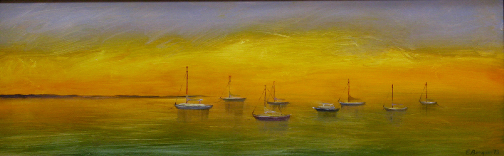 "Elba Borges's ""Closed Sails at Sunset"""