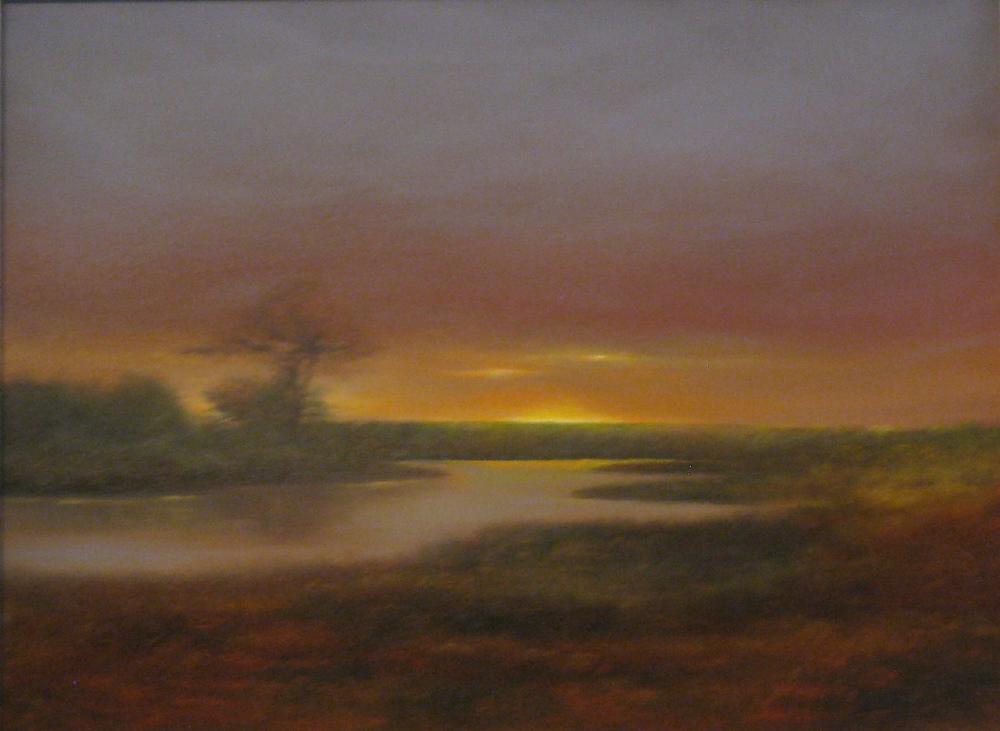 """Elba Borges's """"Salt Flats at Dusk"""""""