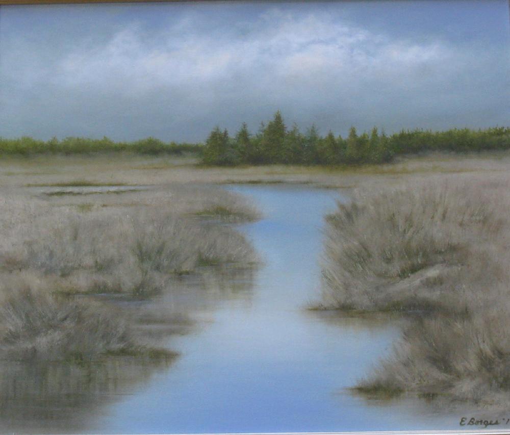"Elba Borges's ""Winter Marsh"""