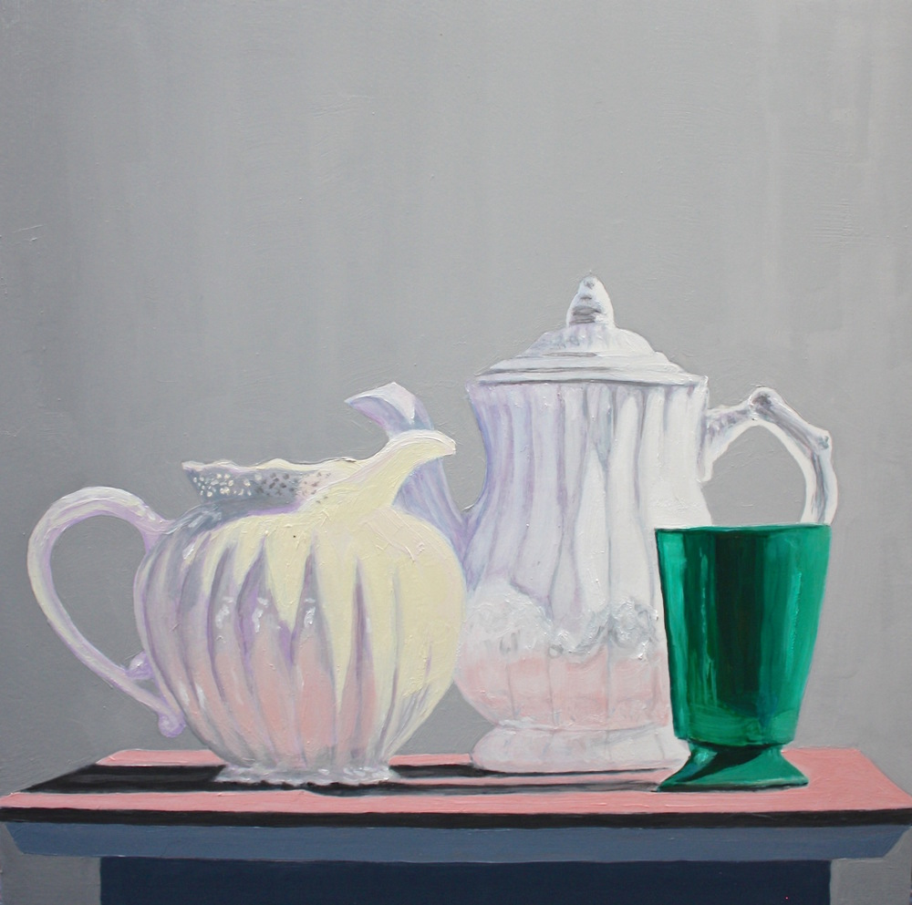 "Gray Jacobik's ""Plumb & Squat & Green Cup"""