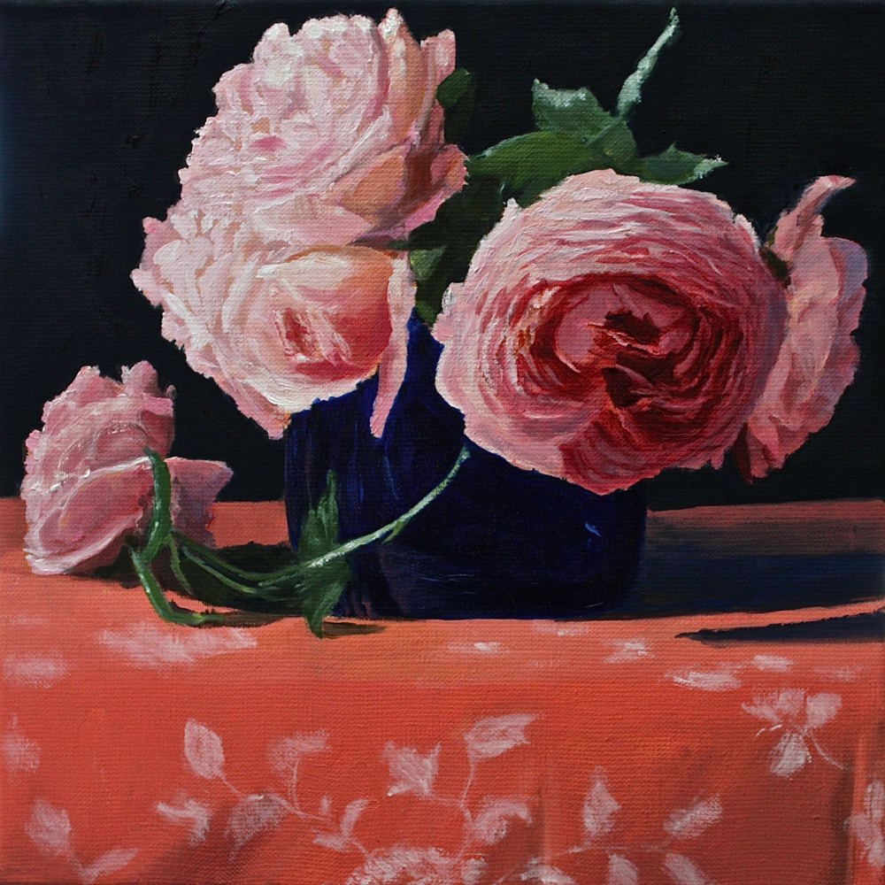 "Gray Jacobik's ""Roses, Not Fully Arranged"""