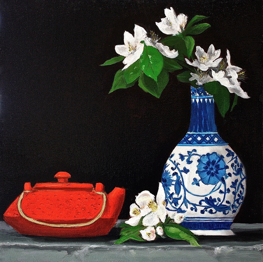 "Gray Jacobik's ""Tea & Crabapple Blooms"""