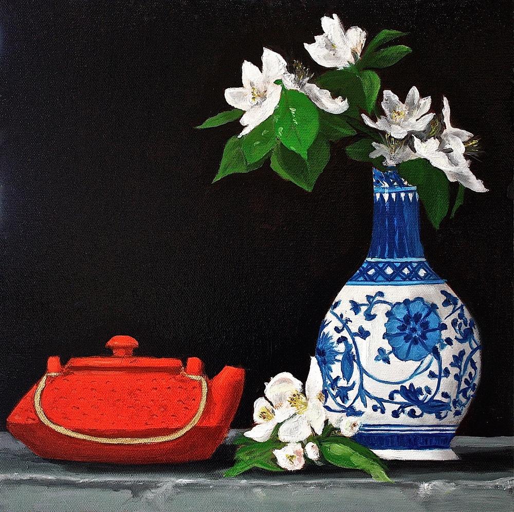 """Gray Jacobik's """"Tea & Crabapple Blooms"""""""