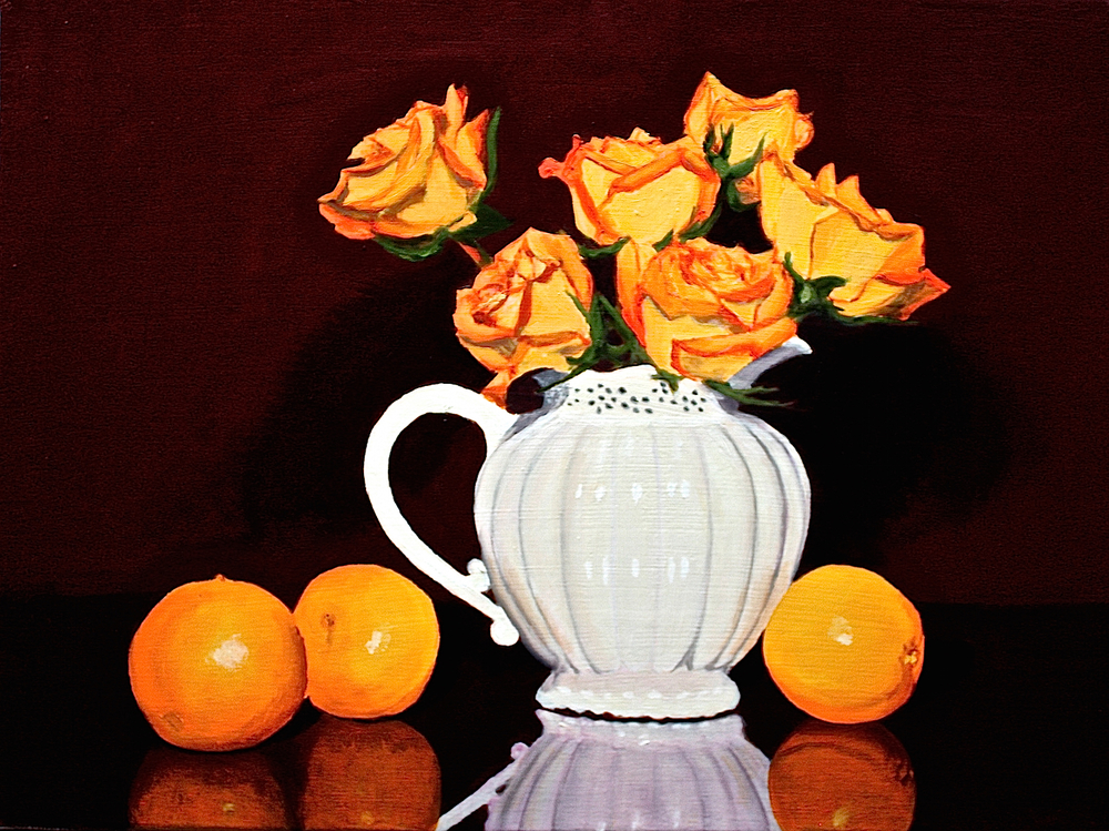 "Gray Jacobik's ""Orange Roses & Orange Oranges"""