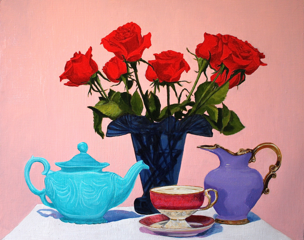 "Gray Jacobik's ""Roses Are Red, Teapots Are Turquoise"""