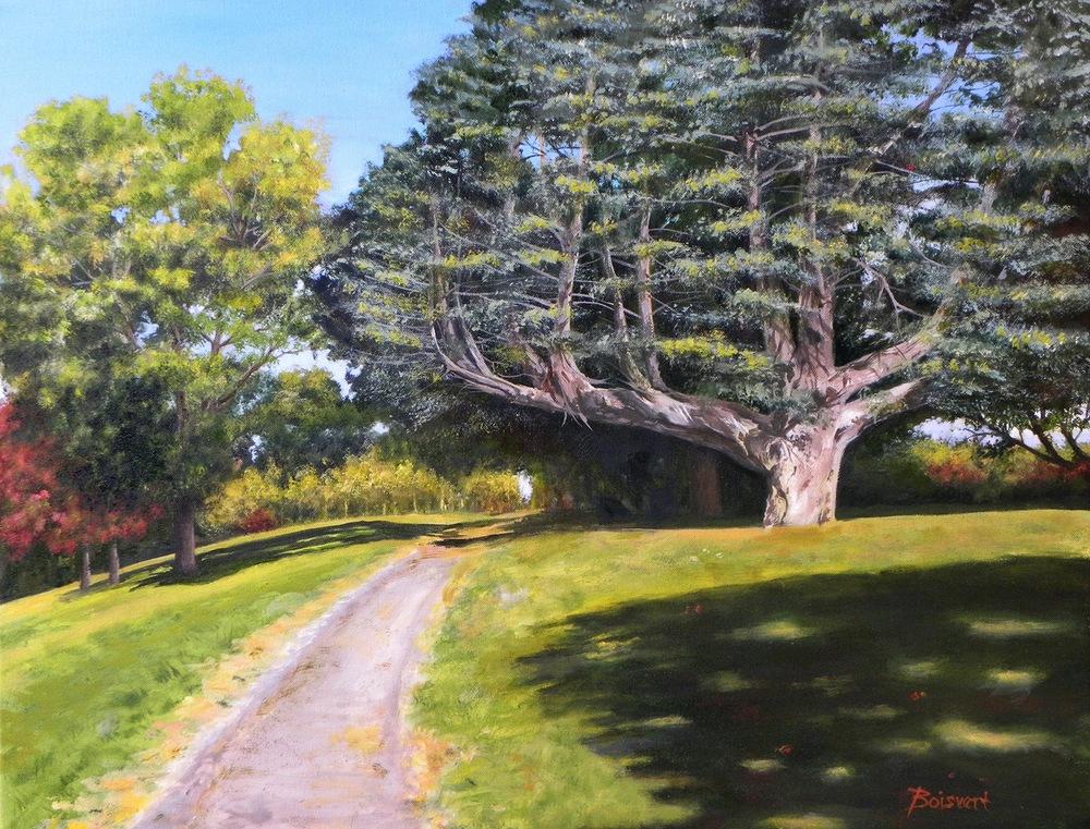 """Linda Boisvert DeStefanis' """"Stroll in the Park"""" (oil)"""