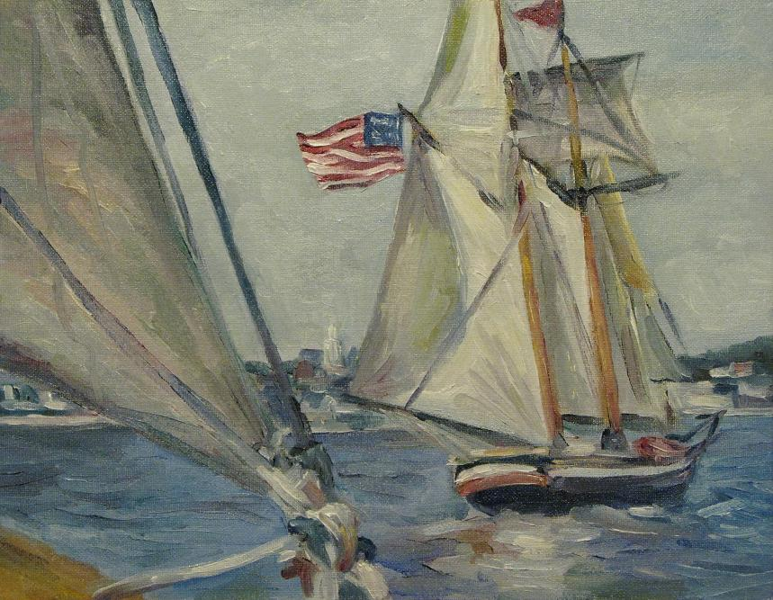 Schooner Lynx in the Lead