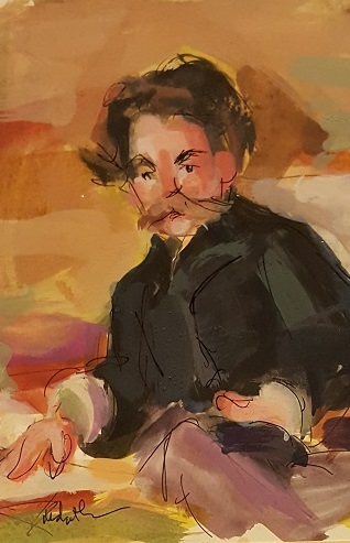Portrait of Stephen Mallarme (after Manet)