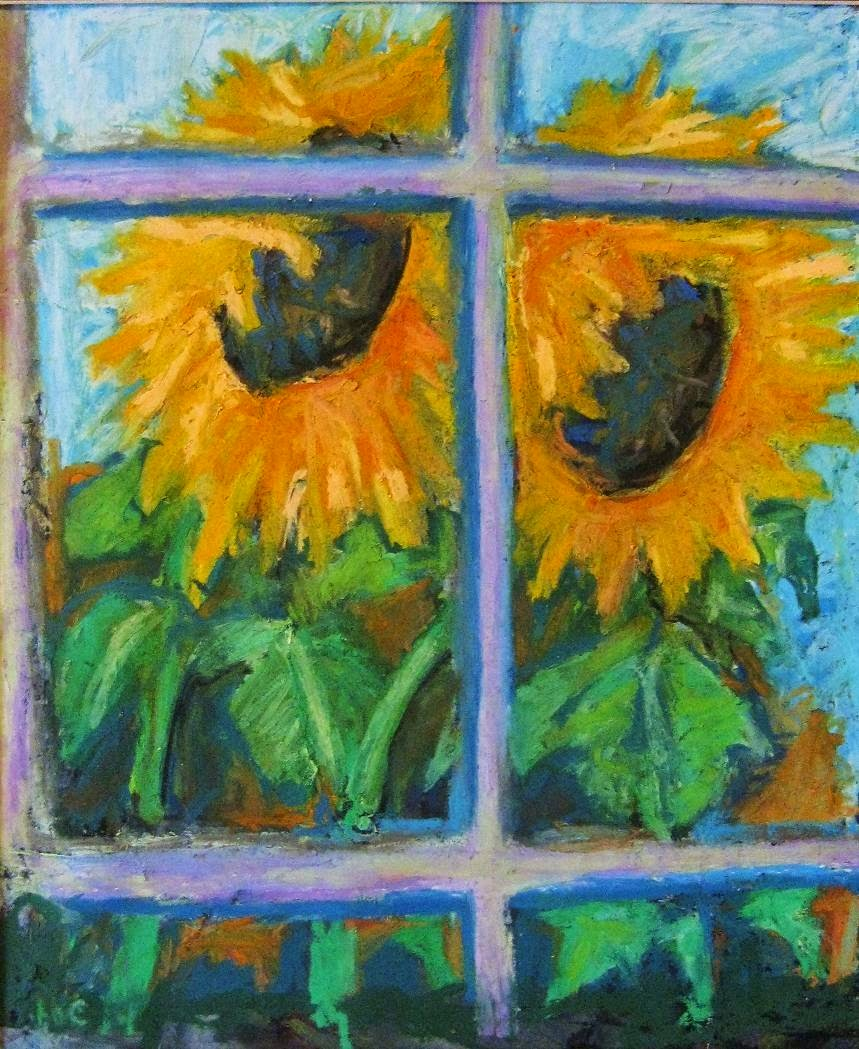 Sunflower Old Window