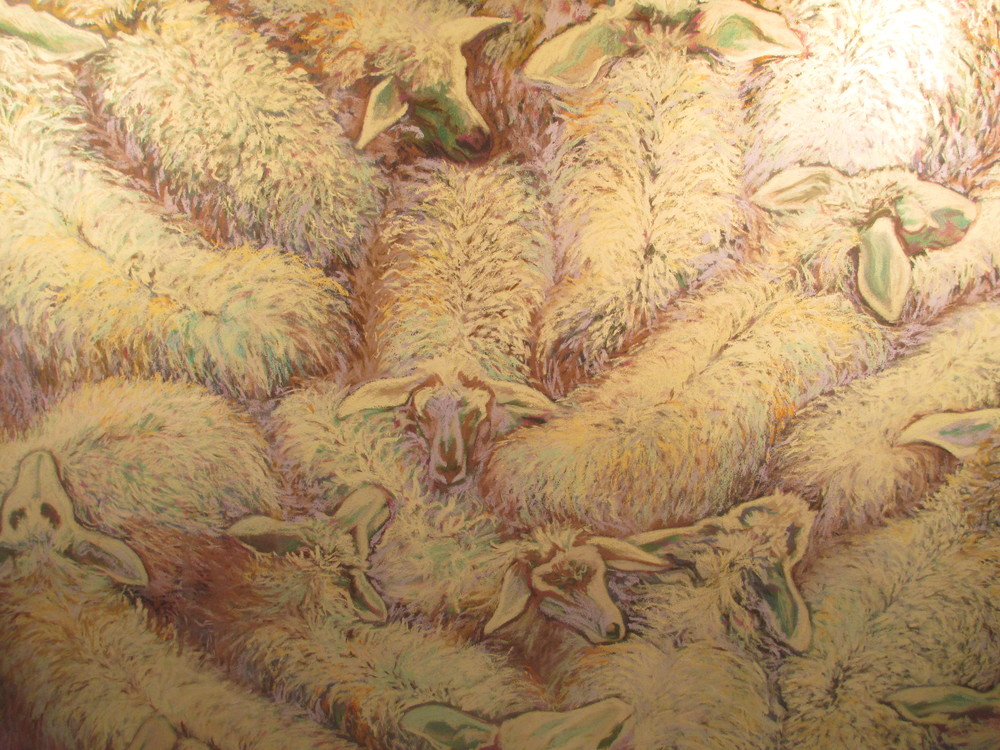 Sheep Herd Yellow