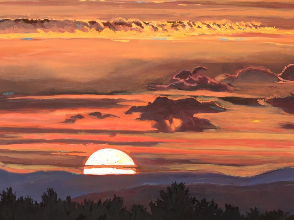 """Powder Ridge Sunset"" by Donna Favreau"