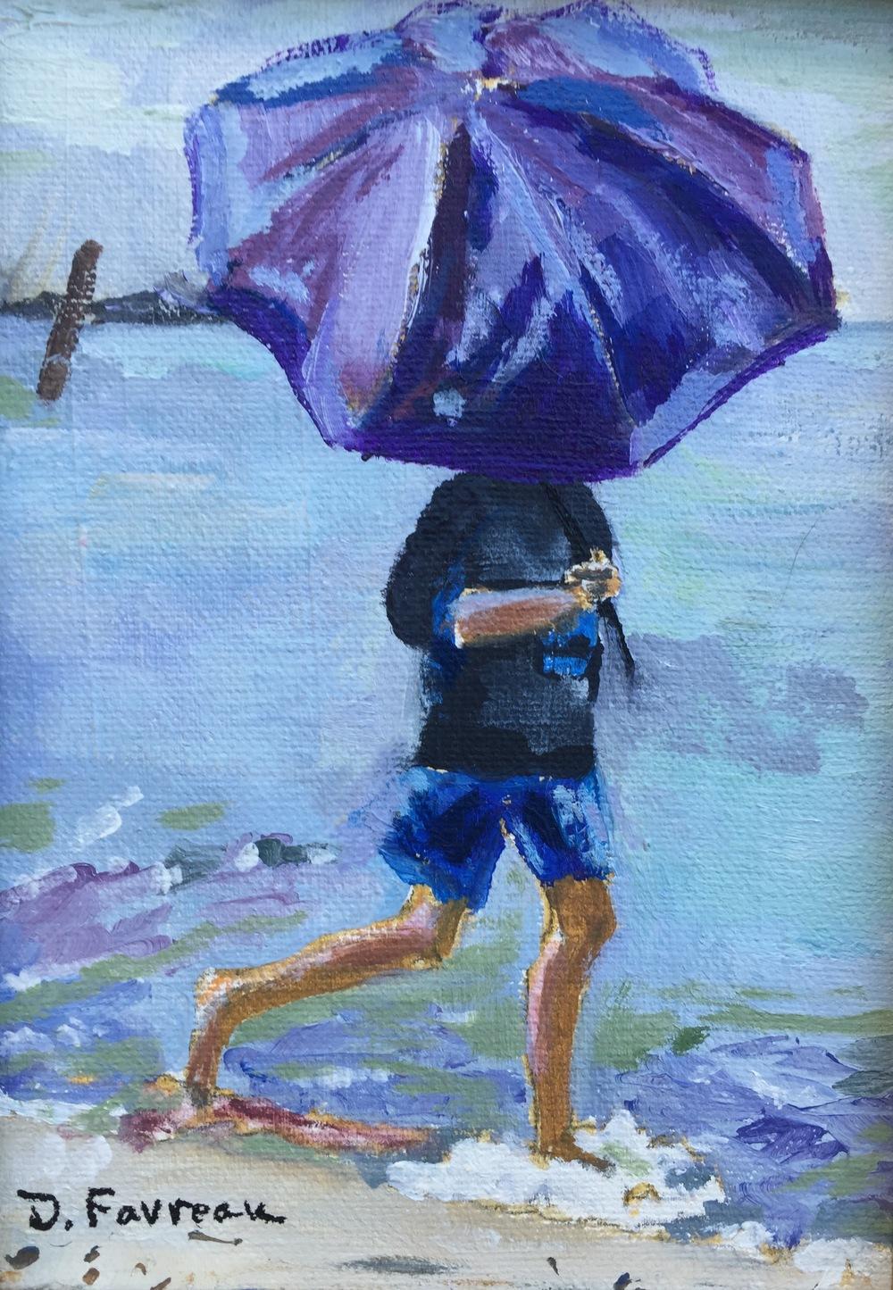 """Donna Favreau's """"Purple Umbrella"""""""