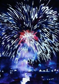 "Claudia Van Nes's ""Fireworks I"""