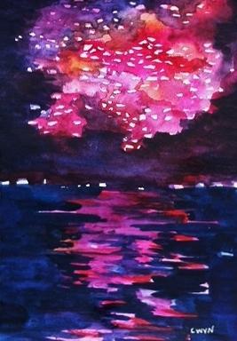 """Claudia Van Nes's """"Fireworks II"""""""