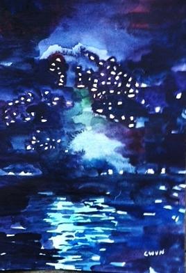 """Claudia Van Nes's """"Fireworks III"""""""