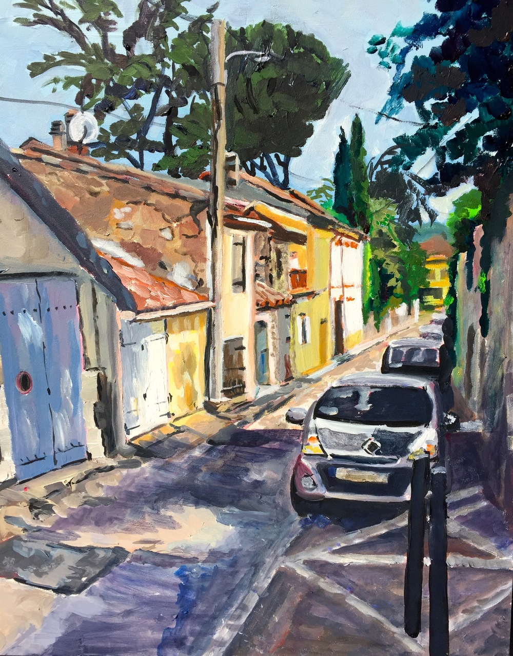 "Donna Favreau's ""Ancient Village, Vezelay, France"""