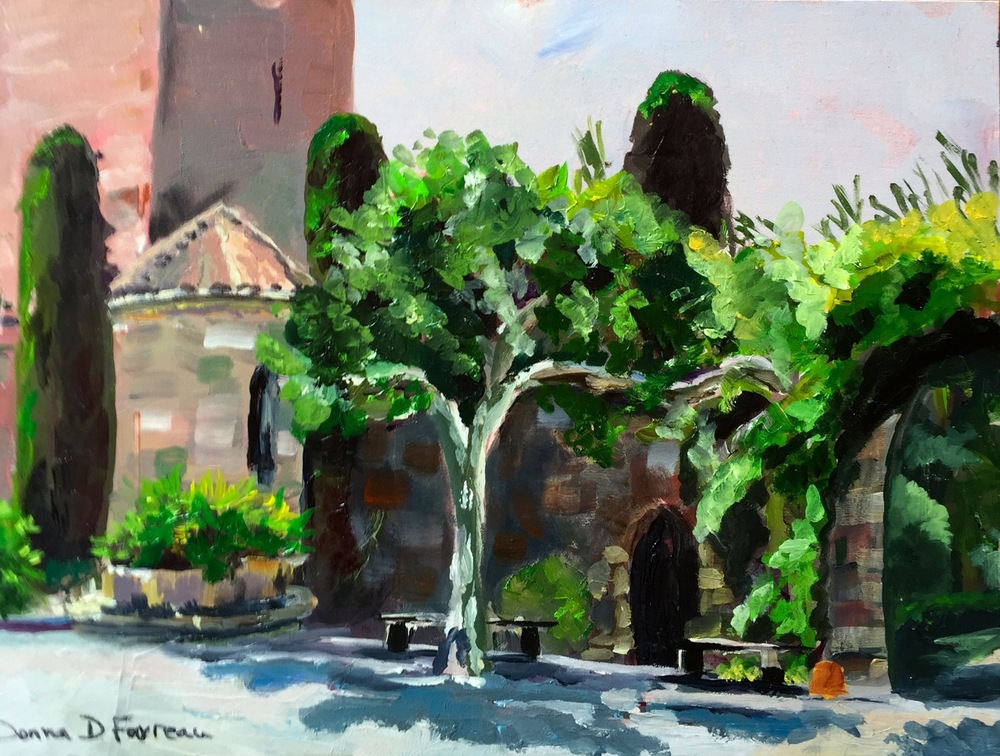 "Donna Favreau's ""In the Courtyard La Napoule"""