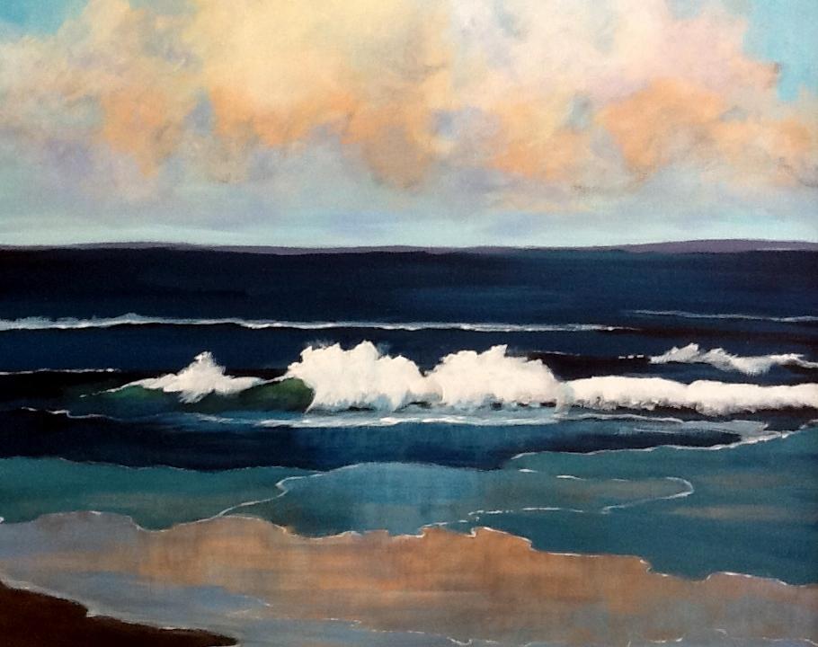 """Pam Carlson's """"Beach Waves"""""""