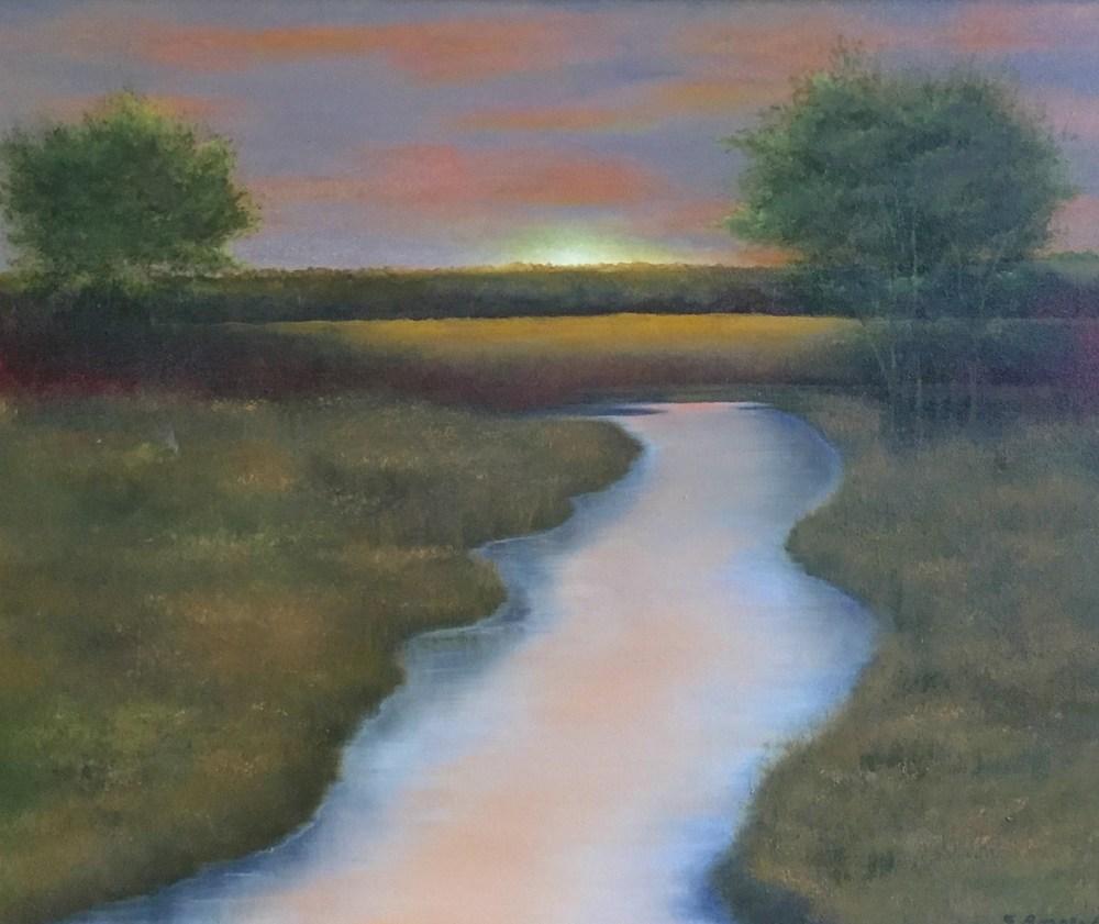 "Elba Borge's ""Salt Flats Sunset"""