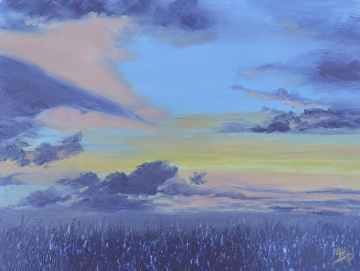 """Linda DeStefanis's """"Sky Fire II"""""""