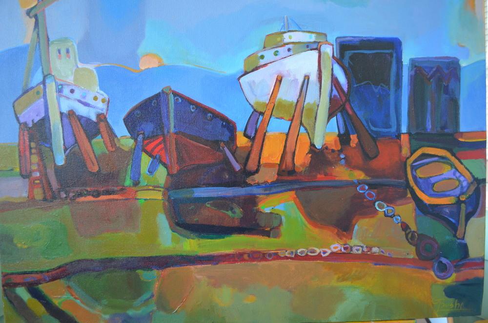 Resting Boats II