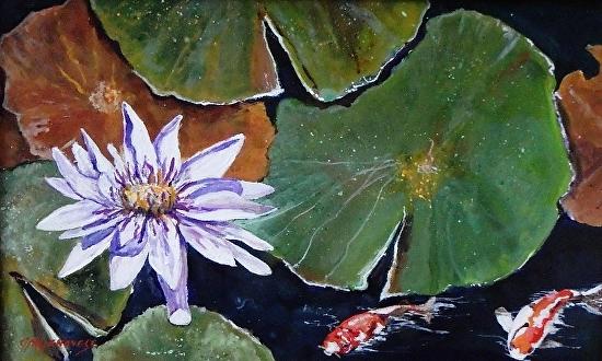 """Gigi Genovese's """"Waterlily Pond"""""""