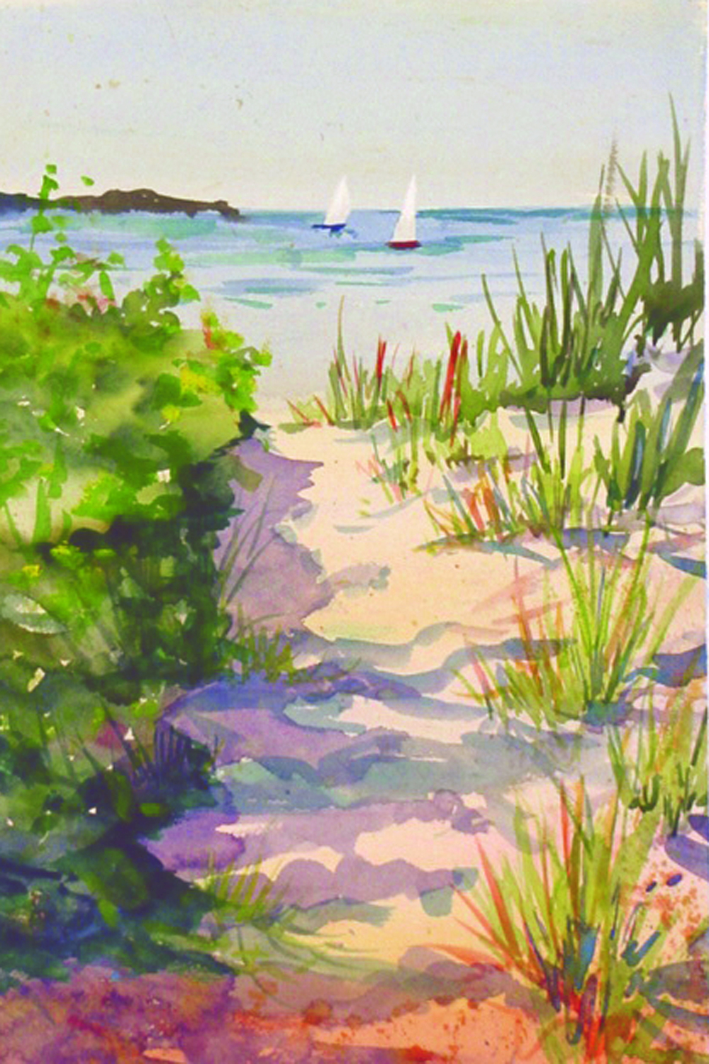 """Beach Path"" watercolor"