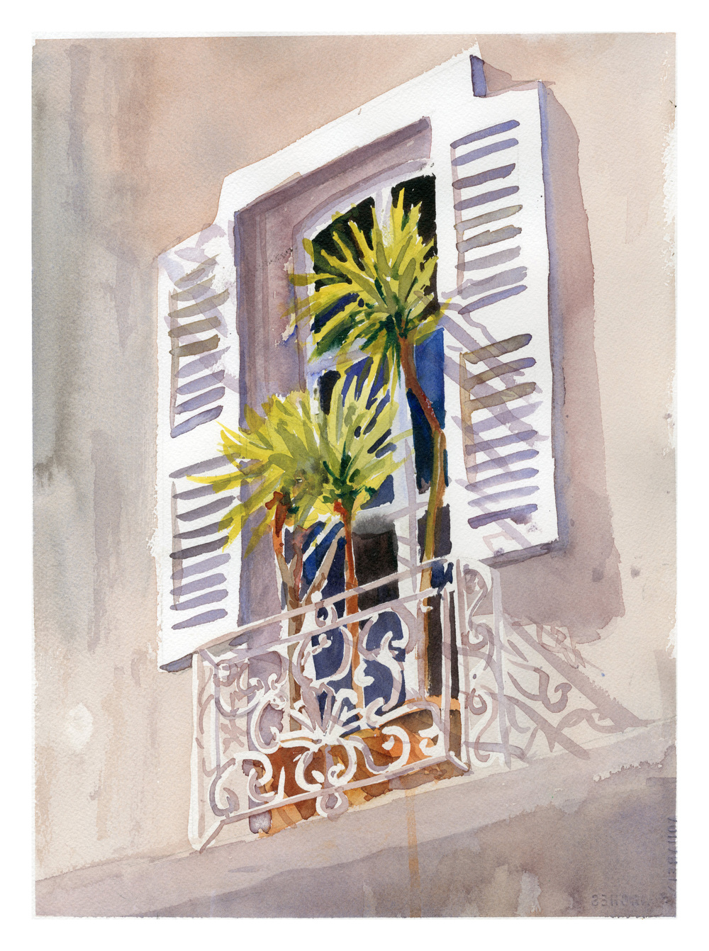 """Provence Morning"" watercolor"