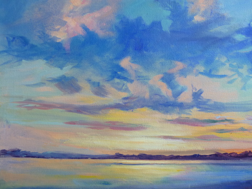 "Linda Lilling's ""Sunset on the CT River"""