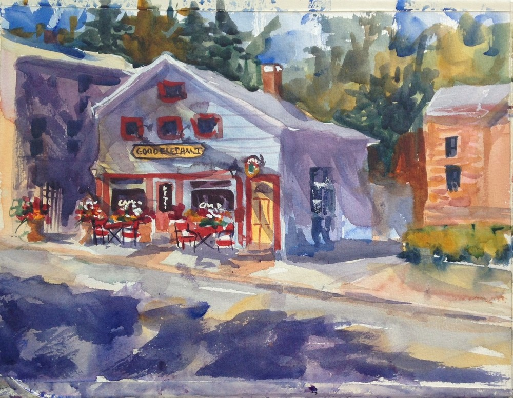 """Chester Scene"" watercolor"
