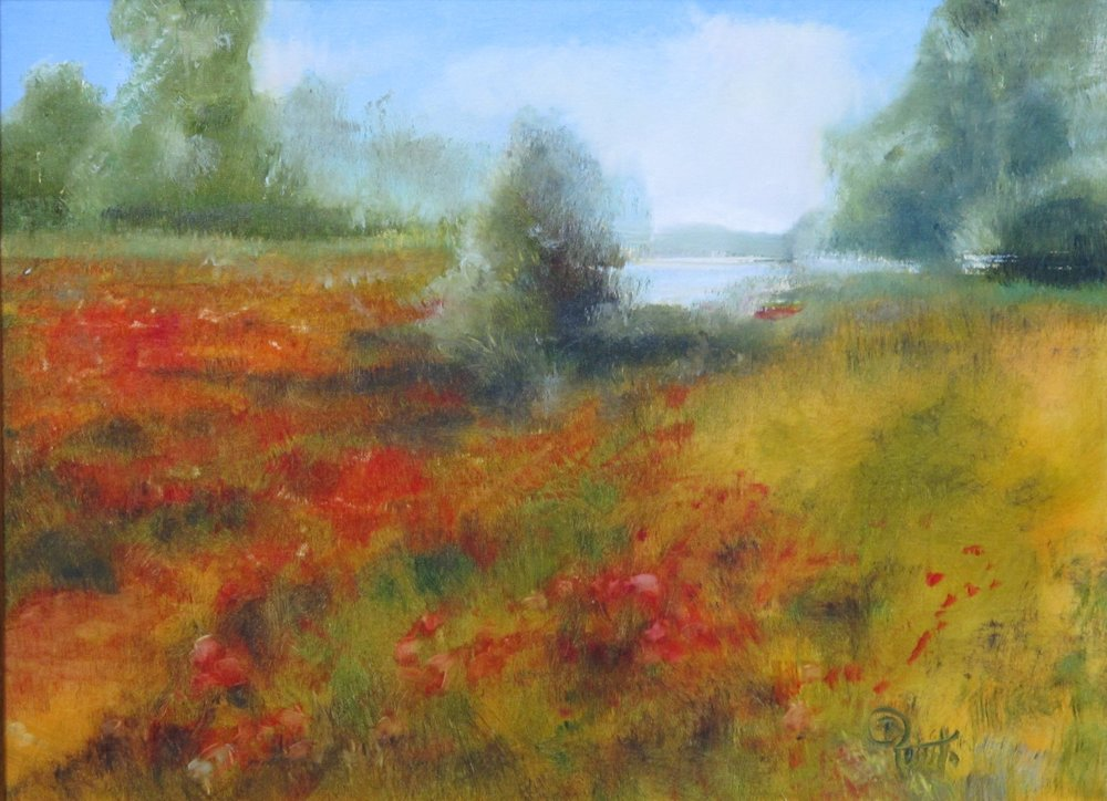 Poppies by the Cove