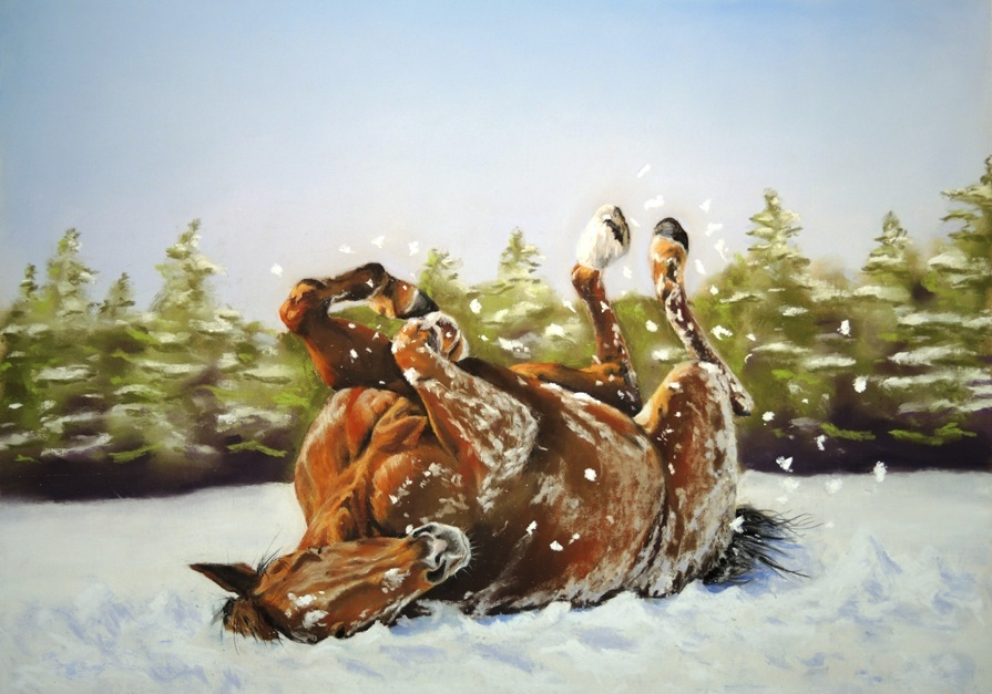 "Bob Dietz's ""Playing in the Snow"""