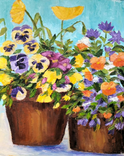 "Cindy Stevens ""Pansies and Poppies"""