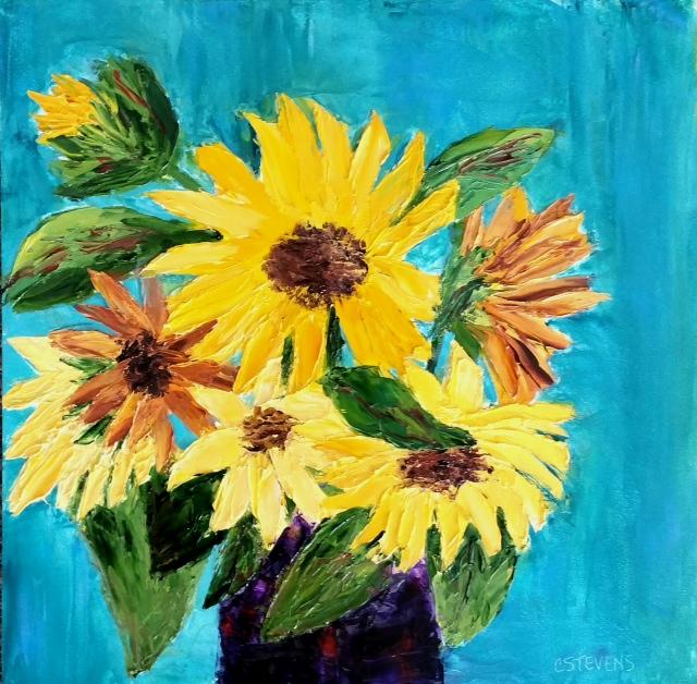 """Cindy Stevens """"Sunflower Bunch"""""""