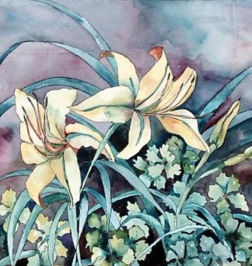 "Claudia Van Nes's ""Two Daylilies"""