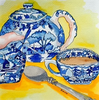 "Claudia Van Nes's ""Tea at Home"""