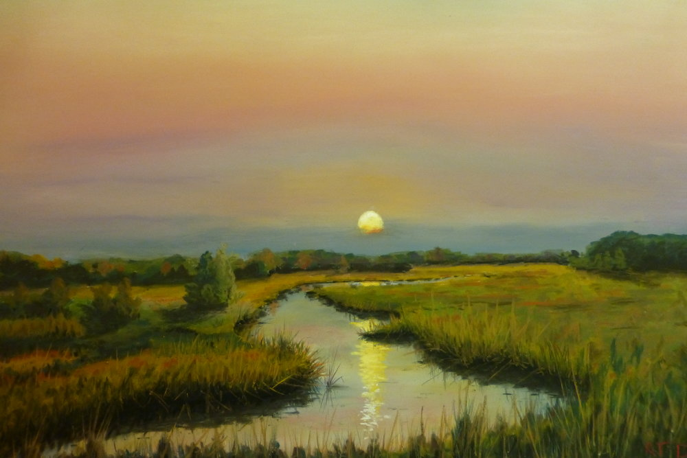 Moon Rising Over the Marsh