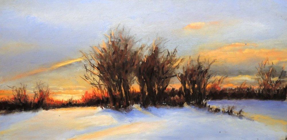 """Bob Dietz's """"Winter Sunset"""""""