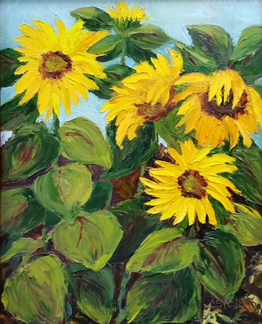 "Cindy Stevens ""Sunflowers at the Parsonage"""