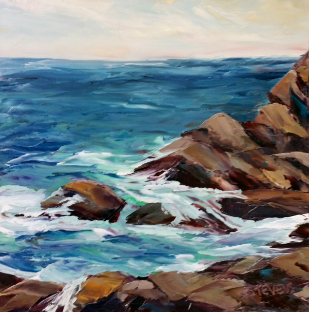"""Cindy Steven's """"Quiet Moment at Lobster's Cove"""""""