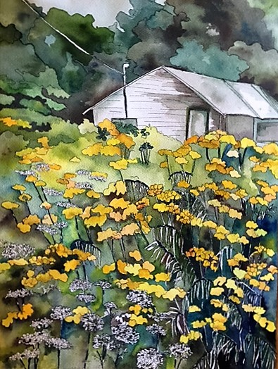 """Claudia Van Nes's """"Queen Anne's Lace and Tansy"""""""