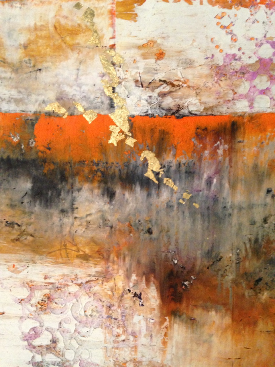 "Diane Brown's ""Abstract Orange #1"""
