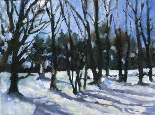 "Lynn Malec's ""Woods in Snow"""