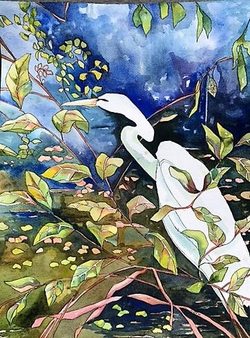 """Claudia Van Nes's """"Snowy Egret II"""""""