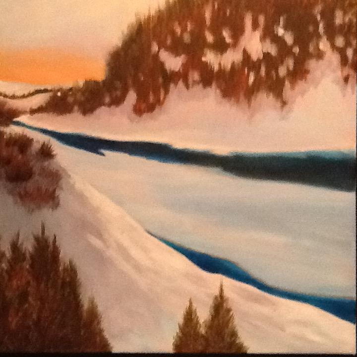 "Pam Carlson's ""Follow the Winter River"""