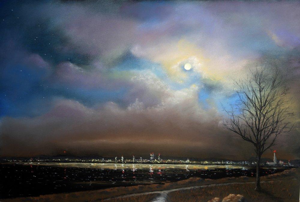 "Bob Dietz ""New Haven Skyline at Night"""