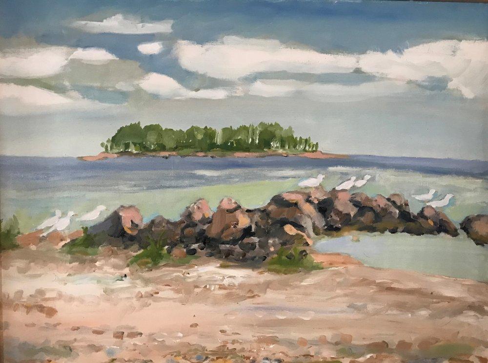 """Elizabeth B. Wright's """"Gulf Beach"""""""