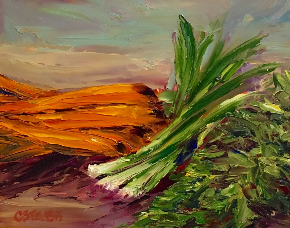 "Cindy Stevens ""Carrots and Scallions"""