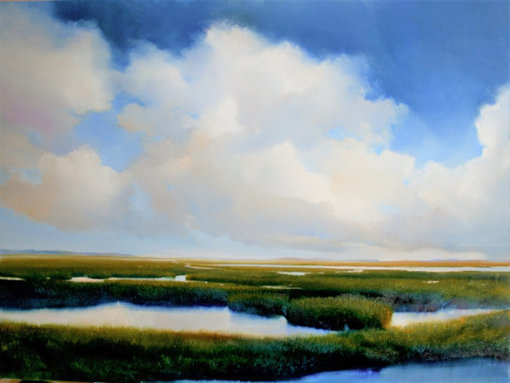 "Janine Robertson's ""Distant Blue"""