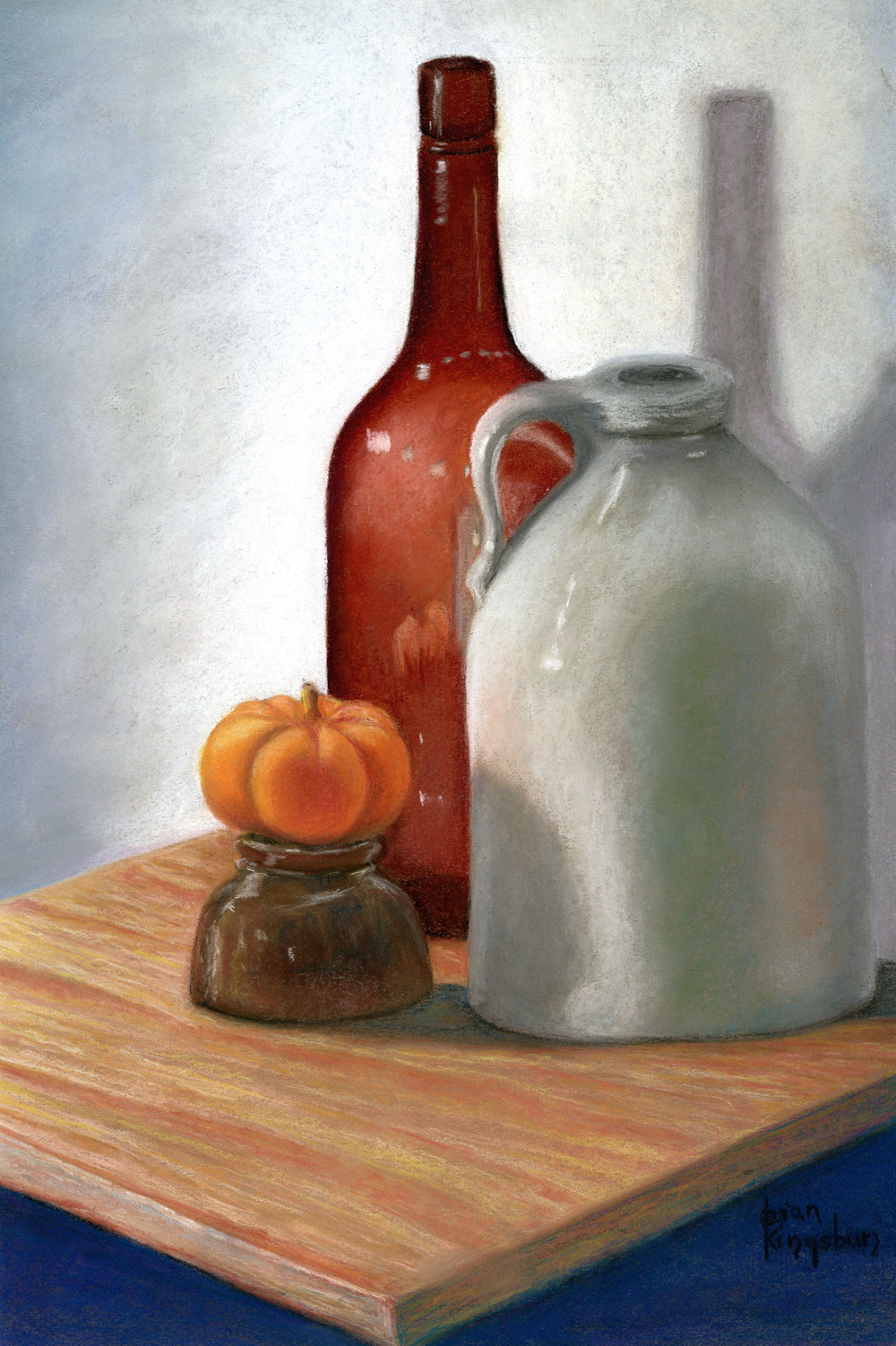 "Dian Kingsbury's ""Jug, Bottle, & Pumpkin"""